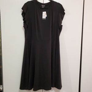 City Chic black fit and flare dress 18W
